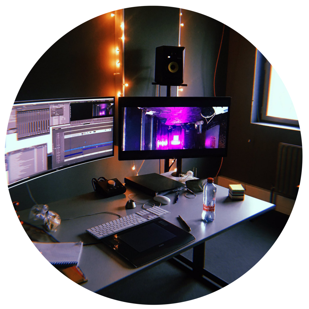 A picture of Eva's editing set at the Netherlands Film Academy.